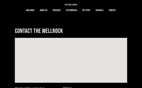 Screenshot of Contact Page thewellrock.com - Contact — The Wellrock - captured May 29, 2019