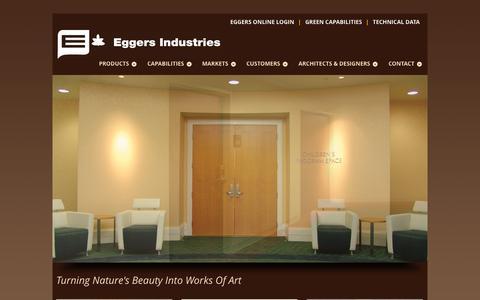 Screenshot of Home Page eggersindustries.com - Eggers Industries - captured Sept. 29, 2014