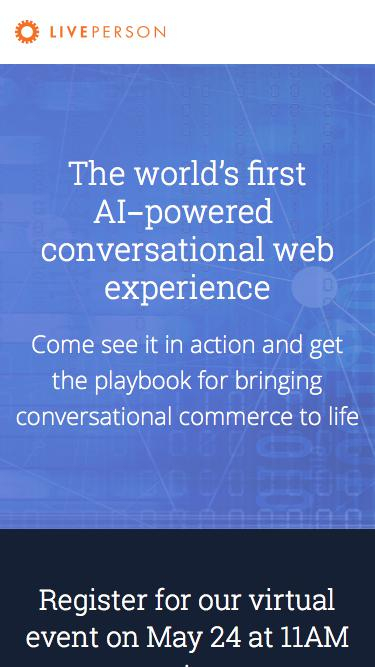 AI-powered Conversational Web | LivePerson