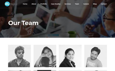 Screenshot of Team Page imydigital.com - Our Team   Website Design   Digital Agency   iMyDigital   Delhi - captured Sept. 20, 2018