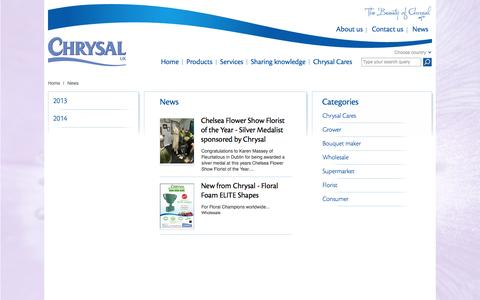 Screenshot of Press Page chrysal.co.uk - News - captured Oct. 3, 2014
