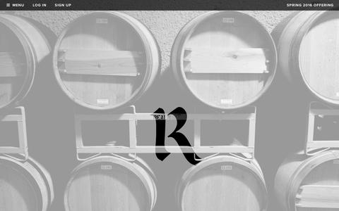 Screenshot of Home Page realmcellars.com - Realm Cellars - captured Feb. 2, 2016