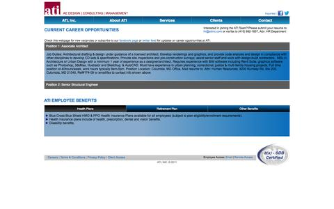 Screenshot of Jobs Page atiinc.com - ATI: Job Opportunities - captured Sept. 30, 2014