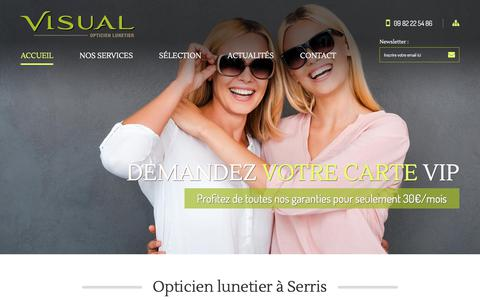 Screenshot of Home Page opticien-visual-serris.com - Visual Serris | Opticien à Serris (77) - captured Sept. 20, 2018