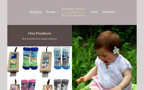 Screenshot of Products Page snowflakesandsunflowers.com - Products - Snowflakes and Sunflowers - captured Oct. 7, 2014