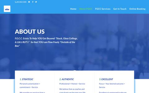 Screenshot of About Page freedomguidecc.com - About FGCC - FreedomGuide Coaching & Consulting - captured Oct. 11, 2018