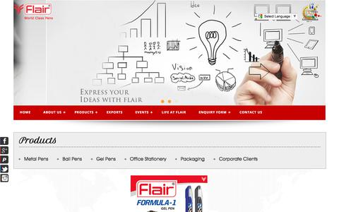 Screenshot of Site Map Page flairpens.com - :: Flair Pen :: - captured July 5, 2017