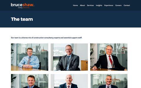 Screenshot of Team Page bruceshaw.com - The Bruceshaw team - captured June 3, 2017