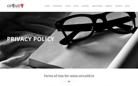 Screenshot of Privacy Page circuit9.in - PRIVACY POLICY - CIRCUIT 9 ® - Advertising Agency   Advertising Agencies   Advertising Agency in Bangalore   Ad Agency in Bangalore   Advertising Company   Advertising Firm   Advertising Agency in India   Best Advertising Agency Bangalore   Advertisi - captured Sept. 22, 2018