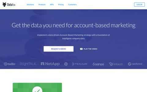 DataFox for Marketing