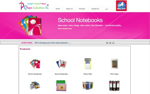 Screenshot of Products Page pic.ps - Paper Industries Company :: PIC - captured Oct. 1, 2014