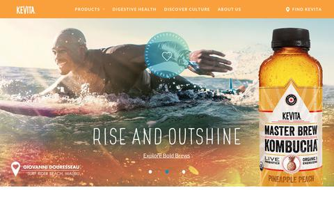 Screenshot of Home Page kevita.com - KeVita - Sparkling Probiotic Drink | Master Brew Kombucha - captured June 7, 2018
