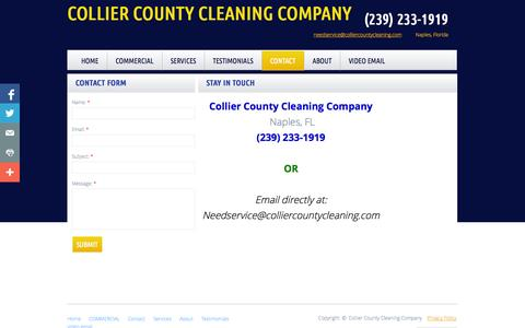 Screenshot of Privacy Page Contact Page colliercountycleaning.com - Contact - captured Oct. 22, 2014