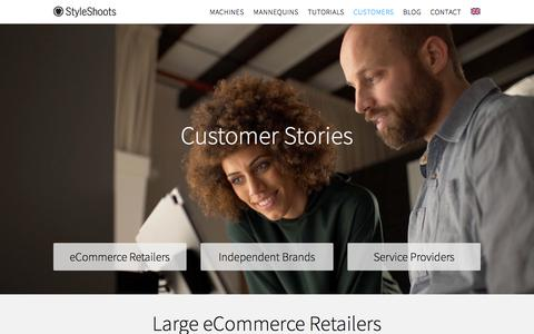 Screenshot of Case Studies Page styleshoots.com - Our Customers | Leading brands from around the world — StyleShoots - captured July 3, 2017