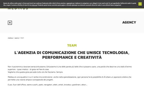 Screenshot of Team Page mediaus.it - Human Web Marketing and Web Developing - captured July 27, 2018