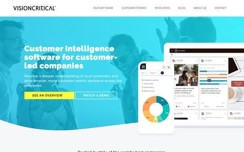 Customer Intelligence Software Company - Vision Critical