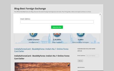 IndiaKaForexCard : BookMyForex :India's No.1 Online Forex Card Seller