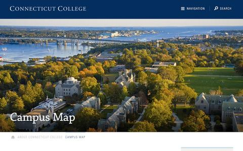 Screenshot of Maps & Directions Page conncoll.edu - Campus Map · Connecticut College - captured Sept. 1, 2016