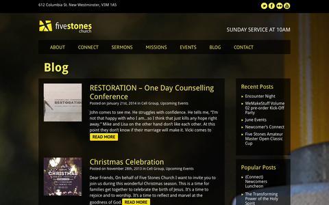 Screenshot of Blog fivestoneschurch.org - Cell Group - captured Sept. 30, 2014