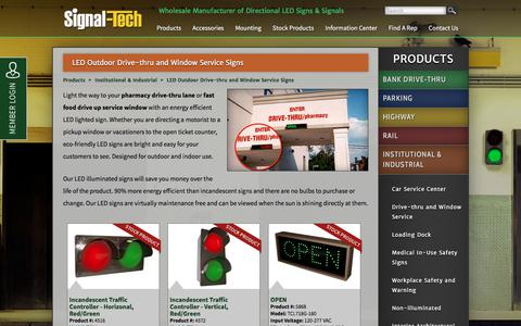 Outdoor LED Pharmacy Drive Thru Open Closed Signs | Overhead LED X Arrow Signs for Car Dealership Service Bays | LED Fast Food Drive Up  Lane Signs | Signal-Tech