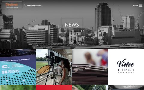 Screenshot of Press Page digitom.tv - Digitom Ltd   Tunbridge Wells Video Production Company - captured Nov. 14, 2018