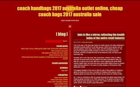 Screenshot of Home Page driving-school.com.au - Coach Handbags 2017 Australia Outlet Online, Cheap Coach Bags 2017 Australia Sale – Coach Australia Online Store - captured Oct. 9, 2017