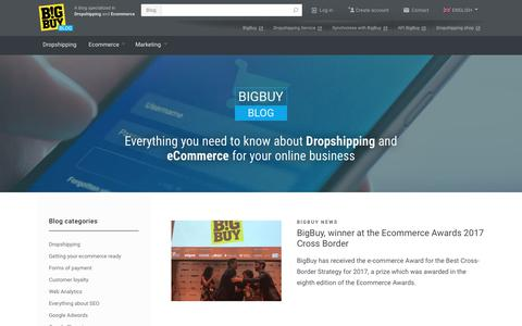 Screenshot of Blog bigbuy.eu - Blog Dropshipping and Ecommerce for your ebusiness | BigBuy - captured June 1, 2017