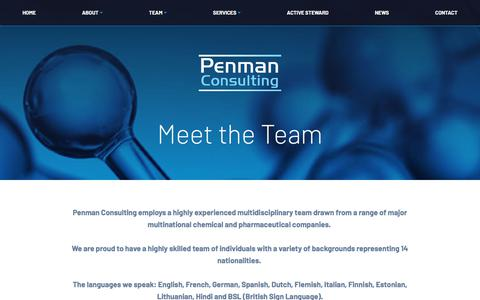 Screenshot of Team Page penmanconsulting.com - Team - Penman Consulting - captured July 16, 2018