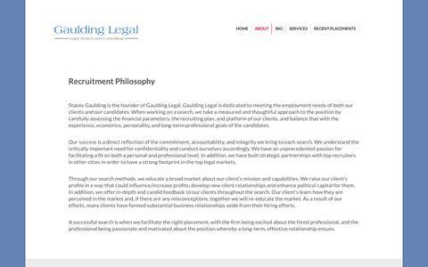 Screenshot of About Page gauldinglegal.com - About | Legal Portfolio - captured Nov. 5, 2014