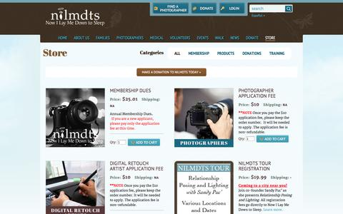 Screenshot of Products Page nowilaymedowntosleep.org - Store   Now I Lay Me Down To Sleep - captured Sept. 22, 2014