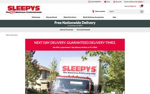 Delivery and Shipping - Sleepy's