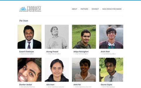 Screenshot of Team Page conquest.org.in - Conquest 2013 | Team - captured Oct. 2, 2014