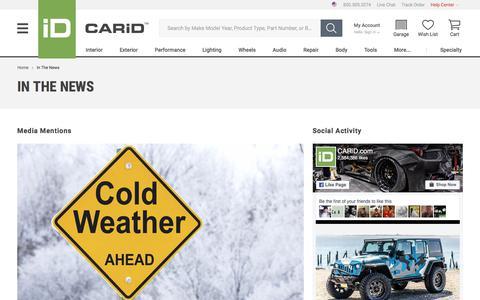 Screenshot of Press Page carid.com - CARiD.com in the News - captured Jan. 21, 2018