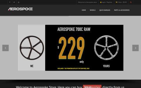 Screenshot of Home Page aerospoke.co - Aerospoke Co. - captured Sept. 30, 2014