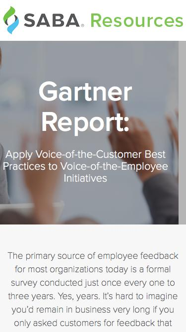 Gartner Report Apply Voice-of-the-Customer Best Practices to Voice-of-the-Employee Initiatives