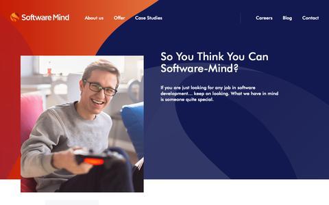 Screenshot of Jobs Page softwaremind.com - Careers - Software Mind - captured Dec. 5, 2018