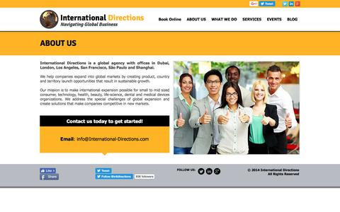 Screenshot of About Page international-directions.com - International Directions | Helping Businesses Go Global - captured June 8, 2017