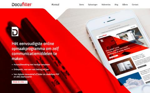 Screenshot of Home Page docufiller.nl - Docufiller Sharing & publishing - captured Oct. 12, 2017