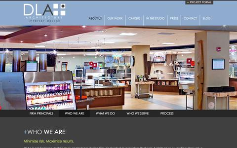 Screenshot of About Page dlaplus.com - About - Who We Are | DLA+ Architecture & Interior Design - captured Dec. 9, 2015