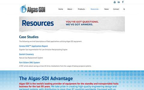 Screenshot of Case Studies Page algas-sdi.com - Case Studies - Algas-SDI - captured Nov. 6, 2018