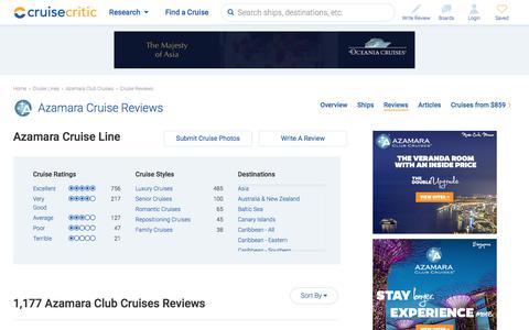 Azamara Cruise Reviews & Ratings of Azamara Club Cruises - Cruise Critic