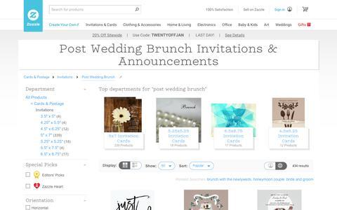 Post Wedding Brunch Invitations & Announcements | Zazzle