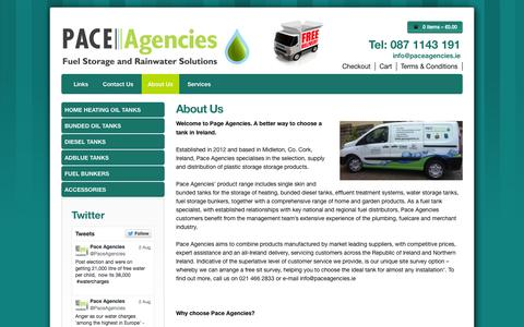 Screenshot of About Page paceagencies.ie - About Us - Pace Agencies - captured Sept. 26, 2014