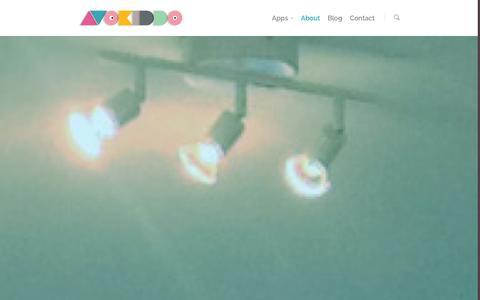 Screenshot of About Page avokiddo.com - about |  Avokiddo | Fun educational apps for kids - captured Sept. 30, 2014
