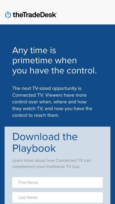 Screenshot of Landing Page  thetradedesk.com - The Trade Desk
