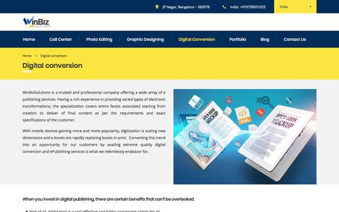 Digital Conversion Services | Winbizsolutions