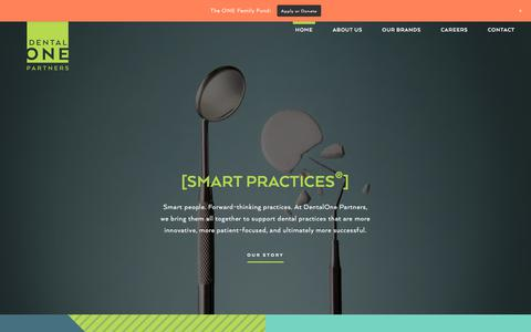 Screenshot of Home Page dentalonepartners.com - Dental One Partners - captured Oct. 12, 2017