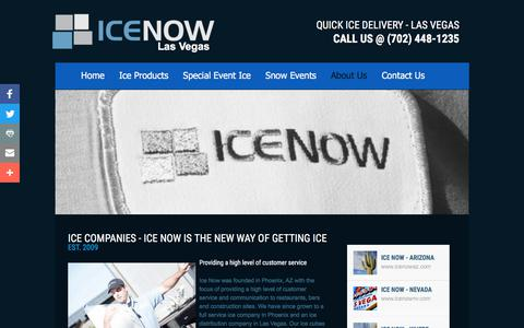 Screenshot of About Page icenownv.com - Ice Now of Las Vegas, Nv : About - captured Oct. 14, 2017