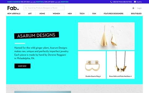 Screenshot of fab.com - Fab | Discover Home, Art, Men's, Women's & Tech Accessories - captured March 20, 2016