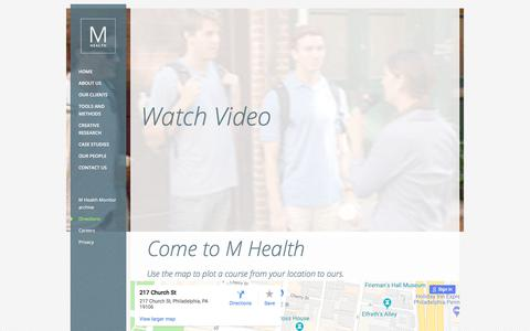 Screenshot of Maps & Directions Page m-health.com - Directions | M Health - captured July 25, 2018